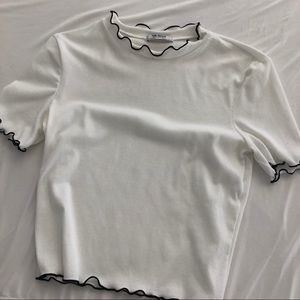 Zara lettuce edge top
